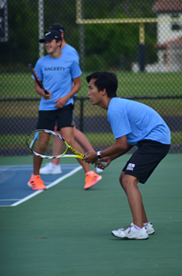 The boys tennis team went undefeated in their regular season and placed second in districts. The team will play in regionals Apr. 21 against Winter Park.
