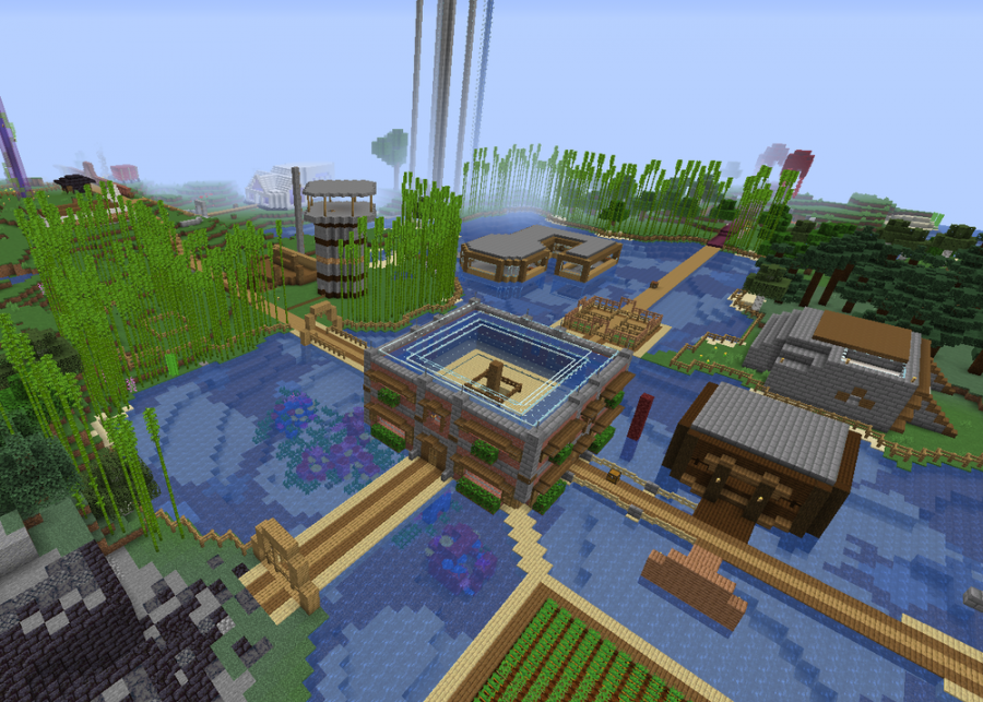 This+screenshot+from+the+Dream+SMP+server+features+the+central+structure+of+the+Community+House%2C+prior+to+its+destruction+and+the+connecting+Prime+paths.+