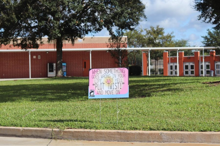 To improve campus morale, PTSA, the student ambassadors parent organization, has placed  jokes and memes around campus.