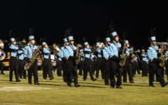 The band performs during the Winter Springs football game. The band performed their show The Music of Queen for the football games and the music festival.